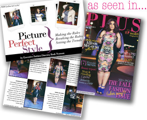 PLUS Model Magazine Executive Fashion Director and plus size fashion expert Reah Norman shares fall's best plus size fashion trends and plus size style tips in the September issue of PLUS Model Magazine.