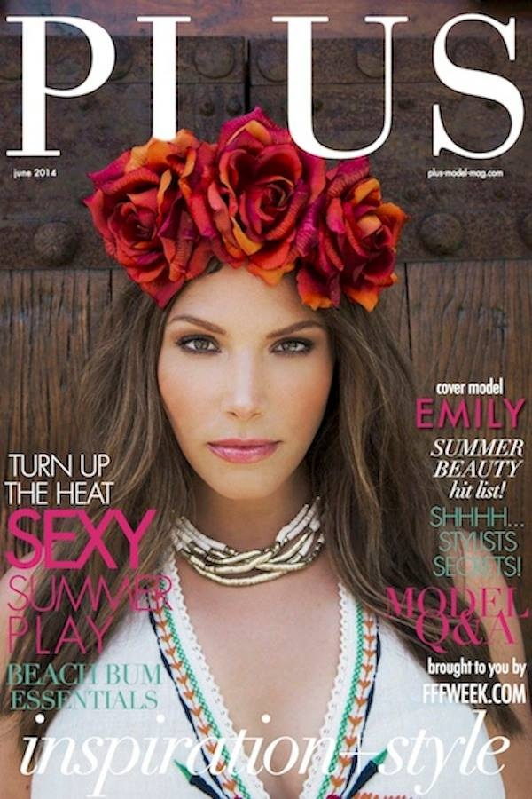 emily nichols plus size model for PLUS Model Magazine June 2014