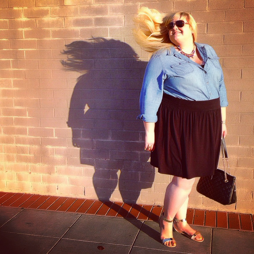{wardrobe basics} The Plus Size Denim Shirt