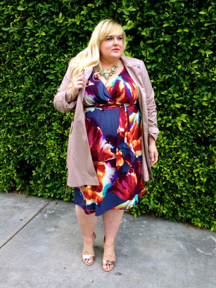 Two Ways to Wear Plus Size Spring Florals with Reah Norman