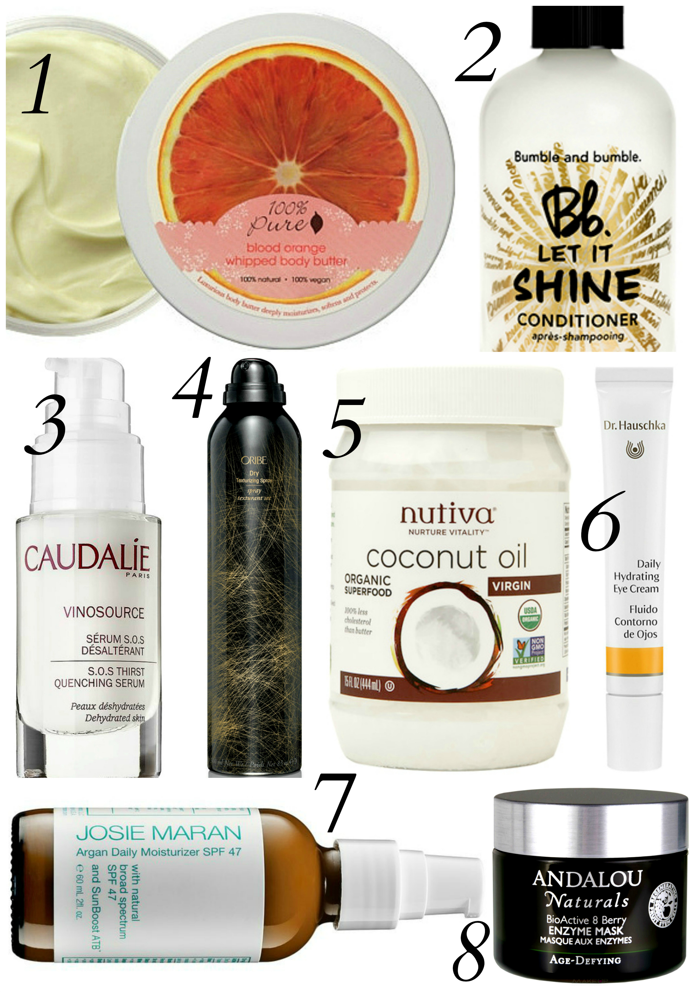 Reah Norman's top 8 must have beauty products. www.styledbyreah.com