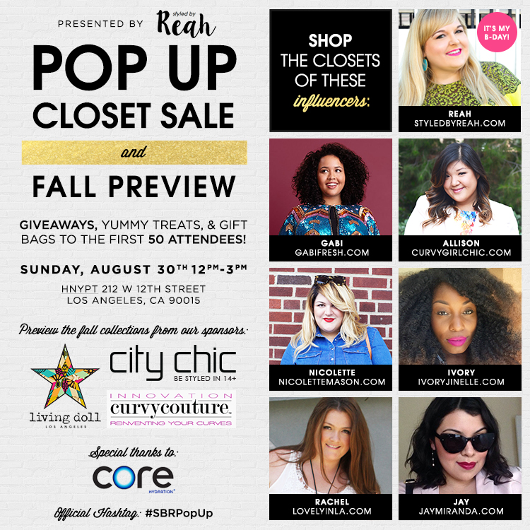 Styled by Reah Pop Up Closet Sale
