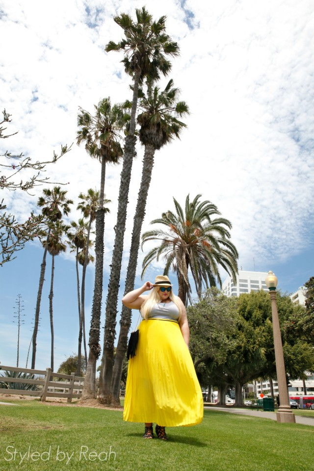 Reah Norman wearing her favorite summer maxi dress from Lane Bryant: www.styledbyreah.com