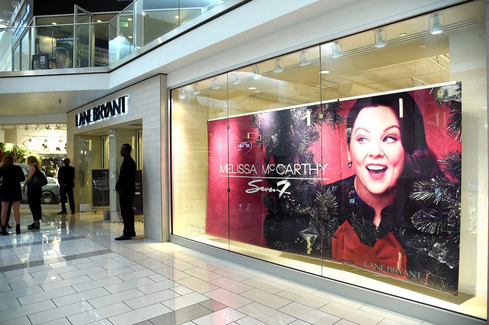 CULVER CITY, CA - NOVEMBER 12: A general view of signage at the debut of Melissa McCarthy's Seven7 holiday collection at Lane Bryant on November 12, 2015 in Culver City, California (Photo by Jason Merritt/Getty Images for Lane Bryant)