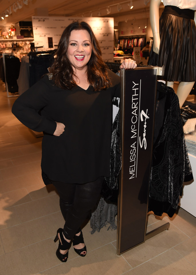 CULVER CITY, CA - NOVEMBER 12: Melissa McCarthy attends the debut of her Seven7 holiday collection at Lane Bryant on November 12, 2015 in Culver City, California (Photo by Jason Merritt/Getty Images for Lane Bryant)