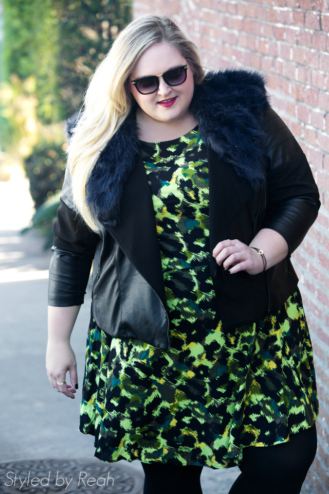 Reah Norman wearing Simply Be USA and BIsou Bisou for JC Penney | www.styledbyreah.com