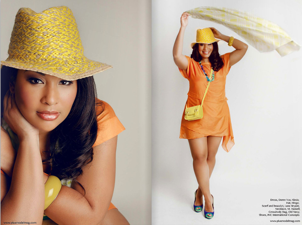 Anansa Sims for PLUS Model Magazine / Inez Lewis Photography
