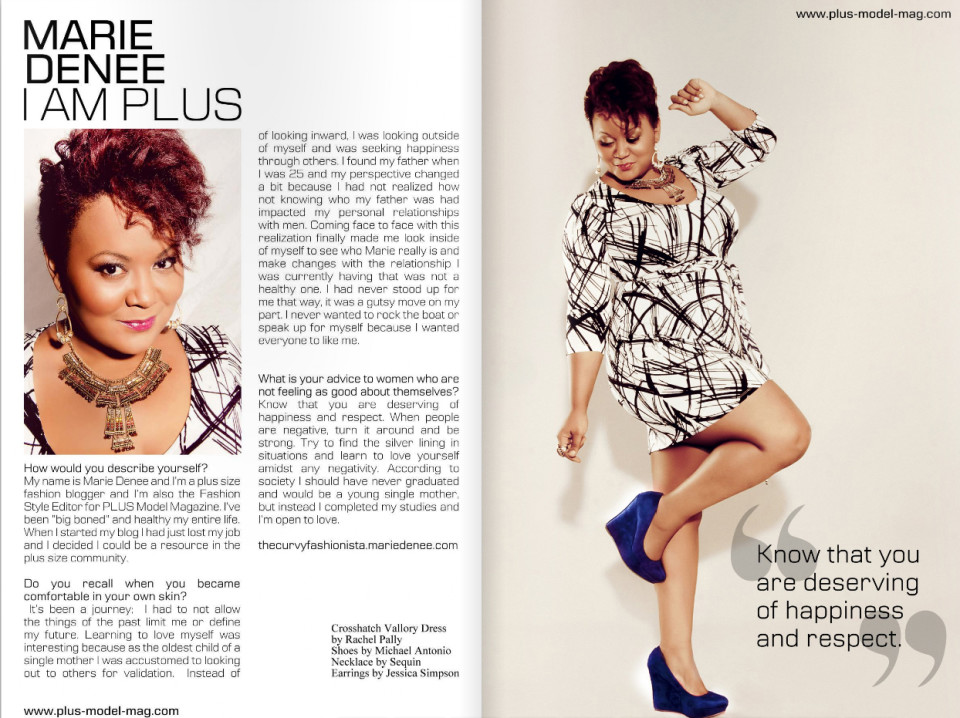The Curvy Fashionista, Marie Denee / PLUS Model Magazine / Inez Lewis Photography