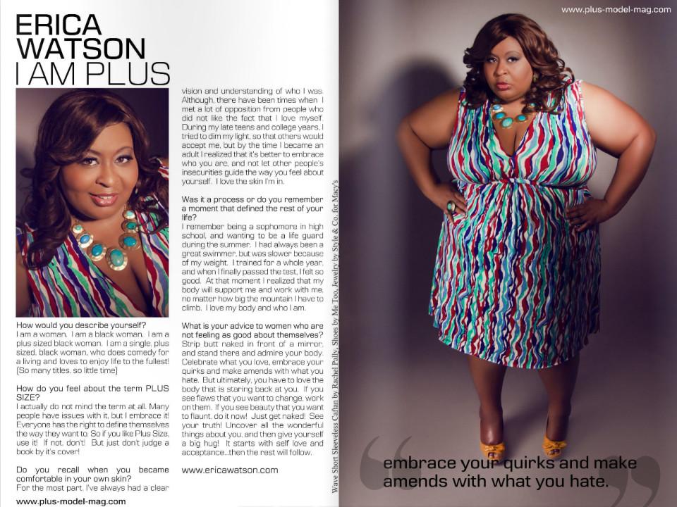 Comedian Erica Watson for PLUS Model Magazine / Inez Lewis Photography