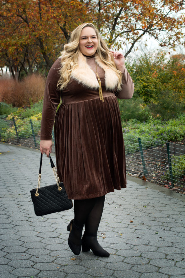 Reah Norman plus size holiday style with Eloquii | Styled by Reah