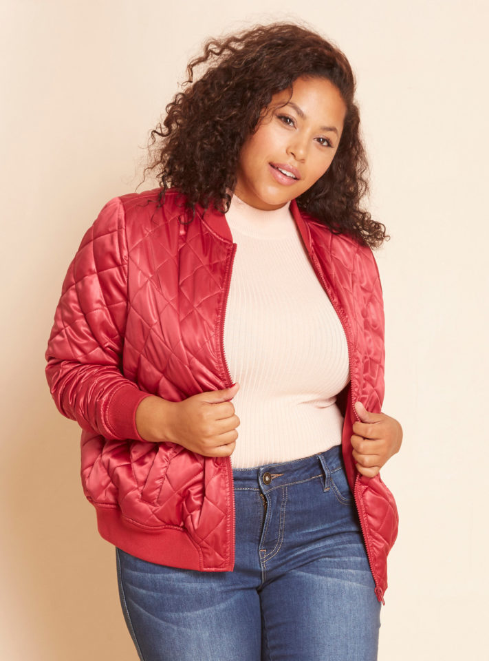 Lovesick Plus Size Bomber Jacket | Styled by Reah