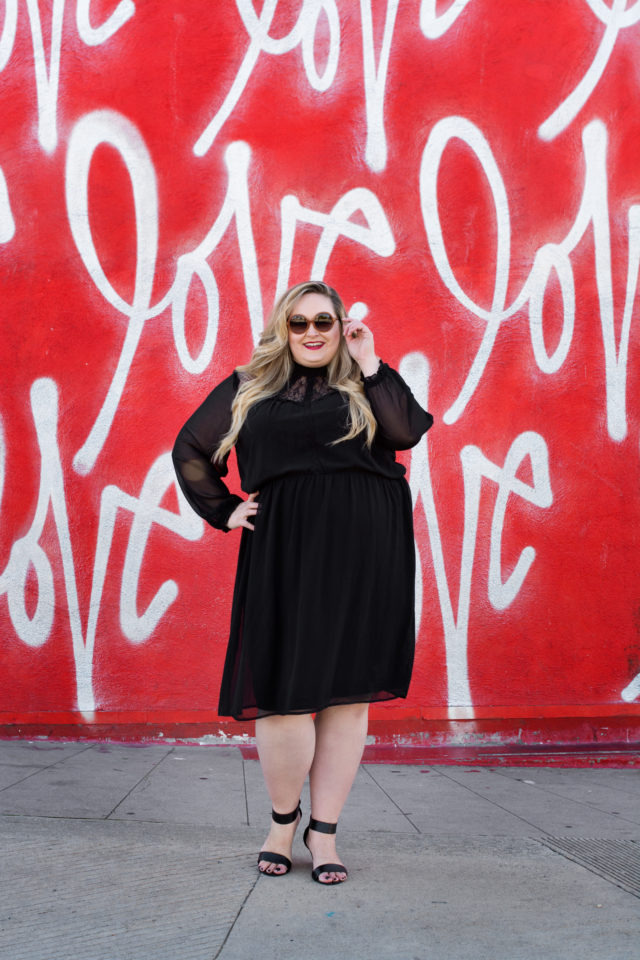 Plus fashion expert, Reah Norman wearing a plus size look from JD Williams USA.